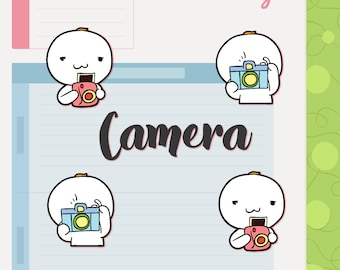 Camera | Planner Stickers | Hand drawn | BB022