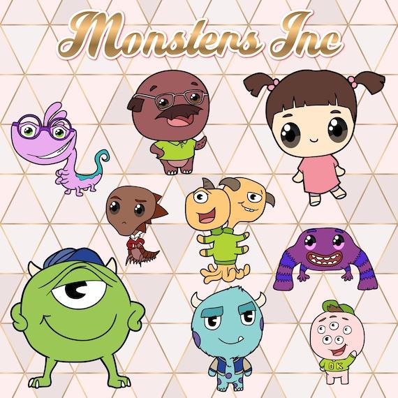 Monster Inc Clipart Kawaii Design Download Cute Etsy