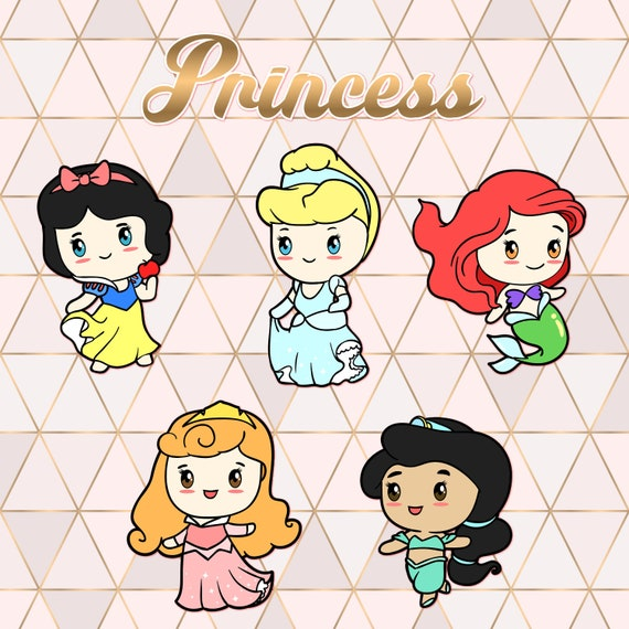 Principessa Digital Clipart Principesse Disney Little Etsy