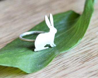 Silver Rabbit Ring