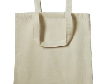 Hand-painted Tote: Grocery Bag- Gift Bag- Personalized- Cotton