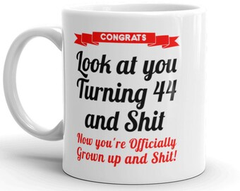 44th Birthday Mug Gifts For Her Him Bday Gift 44 Year Old