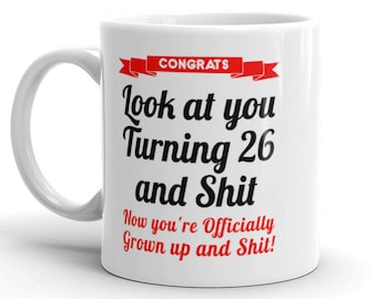 26th Birthday Mug Gifts For Her Him Gag 26 Bday Gift Daughter