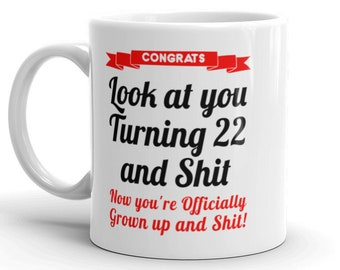 22nd Birthday Mug Gifts For Her Him Gag 22 Bday Gift Daughter