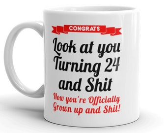 24th Birthday Mug Gifts For Her Him Gag 24 Bday Gift Daughter