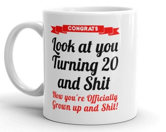 20th Birthday Mug Gifts For Her Him Gag 20 Bday Gift Daughter