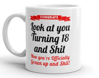 18th Birthday Mug Gifts For Her Him Gag 18 Bday Gift Daughter