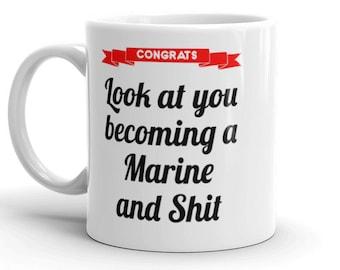 Marine Graduate Gift, Marine Corps Graduation Gifts, US Marine Gift Mug, Marine Boot Camp, USMC Graduation gift, US Marine Student Gift