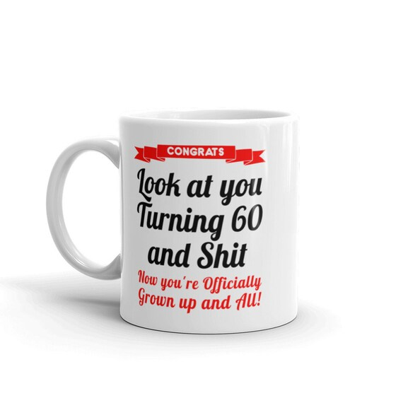 60th Birthday Mug Gifts For Her Him
