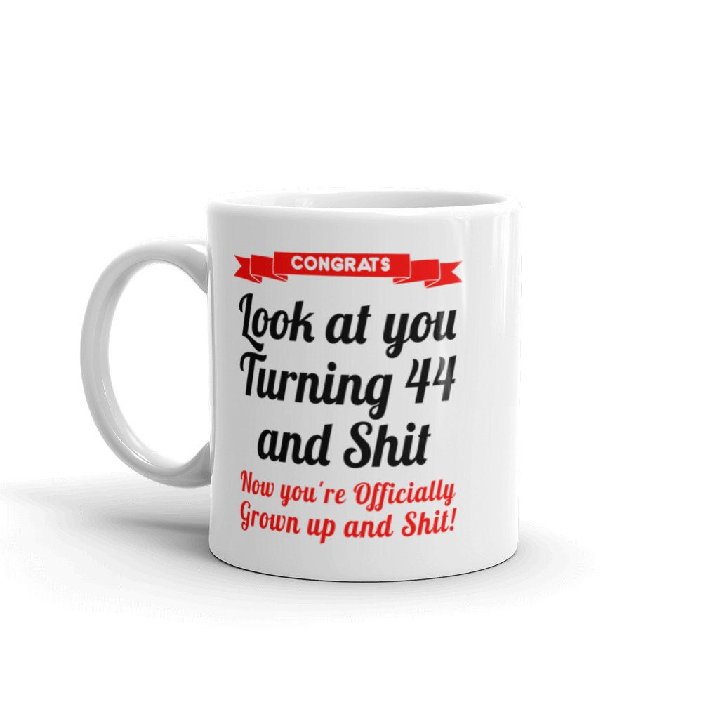 44th Birthday Mug Gifts For Her Him