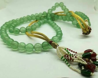 Green avencturin Color beads nackless .