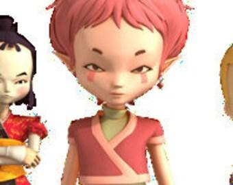 Costume Code Lyoko Aelita Handmade Cosplay