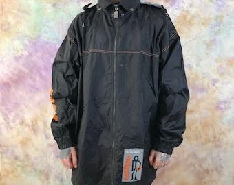 90s Vintage Mens ADIDAS ORIGINALS Streetball Pullover Jacket Black Size 2XL XXL