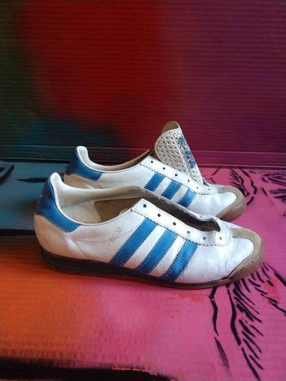 outlet store 67462 7e617 new zealand adidas superstar blue and red women 4c9f8 6da6b  denmark 70s  vintage adidas original sneakers rom made in west germany etsy 739e8 80671