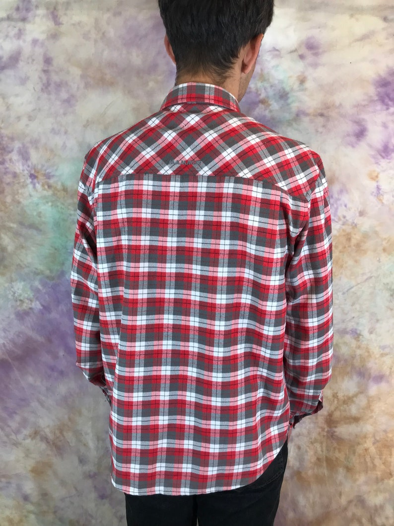 MAMMUT mens plaid Shirt Red plaid warm shirt Csual designer mens shirts size XL