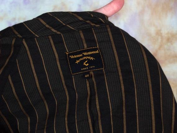 Vivienne Westwood Vintage Brown Button Blazer Cas… - image 6