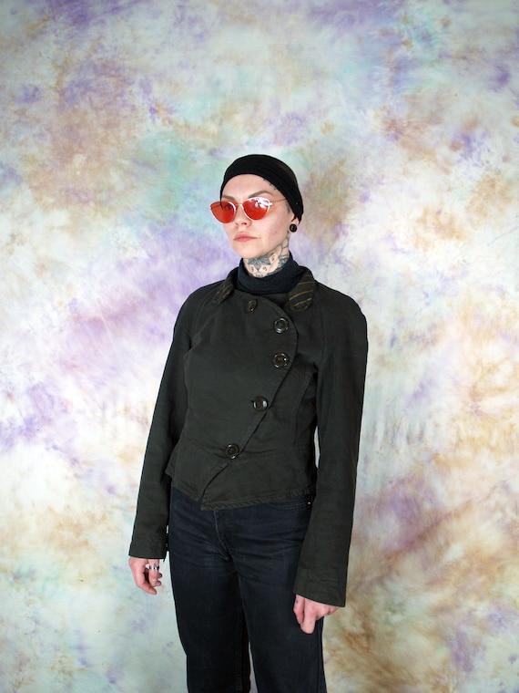 Vivienne Westwood Vintage Brown Button Blazer Cas… - image 2
