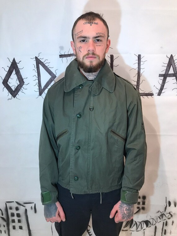 pretty nice 1a9a0 dec97 Vintage World War jacket Jacket Alpha Industries Inc winter flight parka  with hoodie Military Flight Bomber Jacket Army Skinhead Punk Jacket