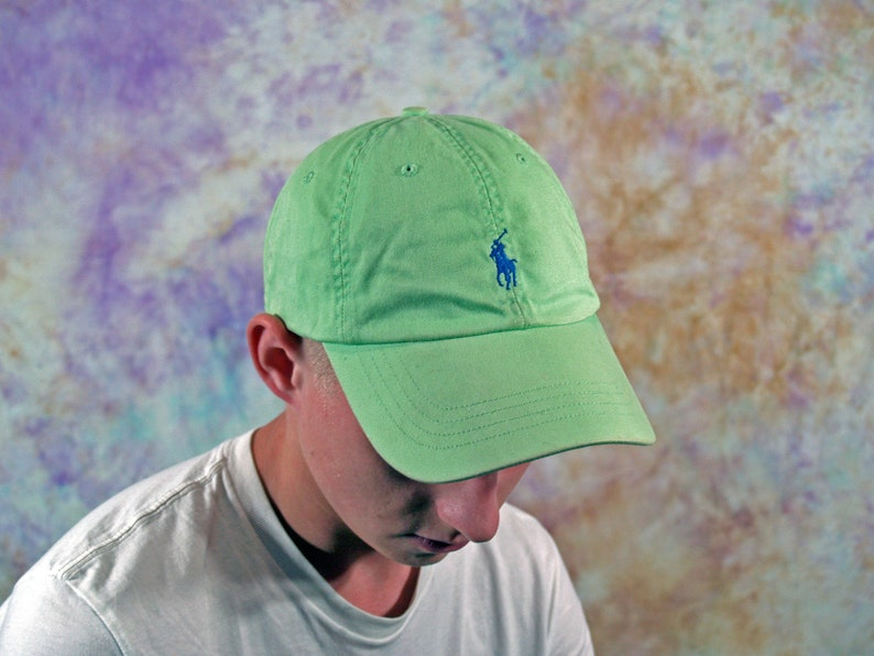 Fred Perry Vintage Unisex Cap 90s 80s Retro Striped White Blue Green Hat Small Logo Streetwear Casual English Style