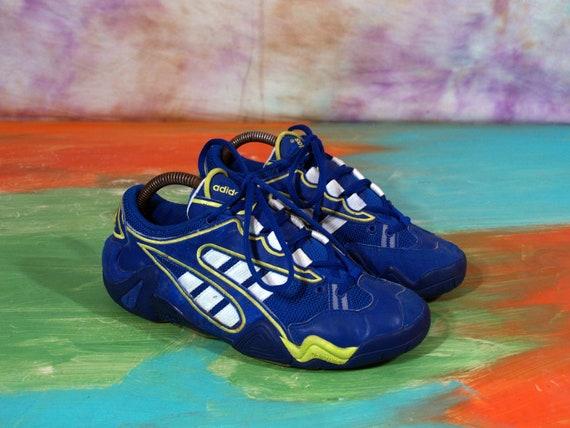Adidas Vintage Blue Yellow White Men's