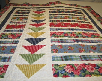 Flannel Flowers  Quilt