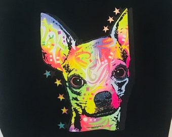 Chihuahua neon Tote bag