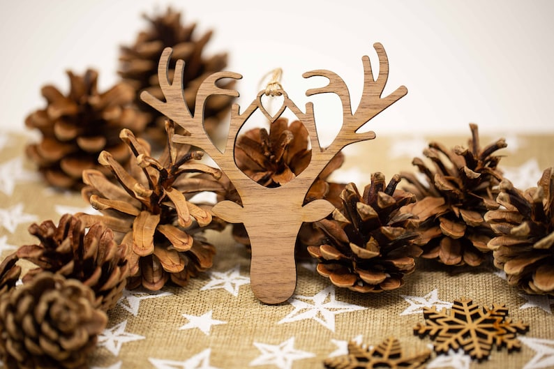 Christmas Bauble Tree Decoration Family Wood Laser Cut Xmas Decoration Christmas Ornament