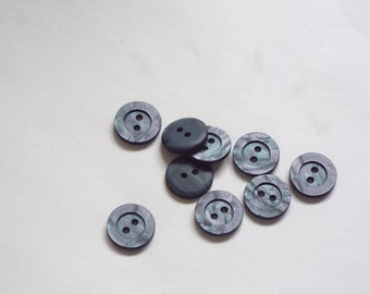 10pc 11mm Medium Mottled Grey Cardigan Trouser Shirt Baby Sewing Buttons 0428