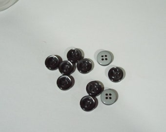 Pack of 10 15mm Marble Effect Grey Gray 2 holed Skirt trouser Button       0078