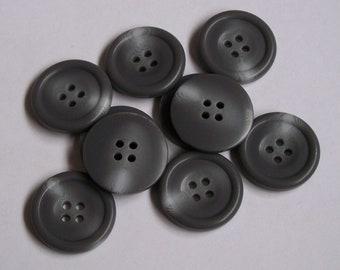 8pc 23mm Dark Brown Faux Horn Coat Suit Cardigan Knitwear Button 5007