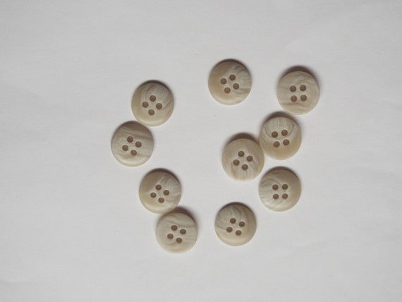 10pc 15mm Straw Yellow Shirt Jacket Knitwear Cardigan Sewing Buttons 0247
