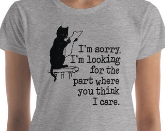 Funny Cat Shirt, Cat Mom, Crazy Cat Lady, Black Cat Shirt, Sarcastic T-shirt, Introvert Shirt, Cat Lover, Women's short sleeve t-shirt