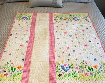 Whimsical Forest Creatures Baby Quilt