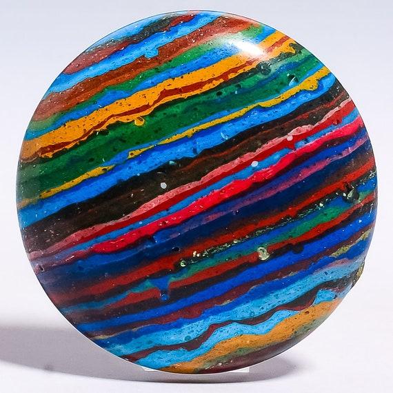 Rainbow Calsilica Natural Stone Cabochon