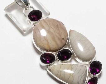 "Willow Creek Gemstone Handmade Jewelry Pendant 3.32"""