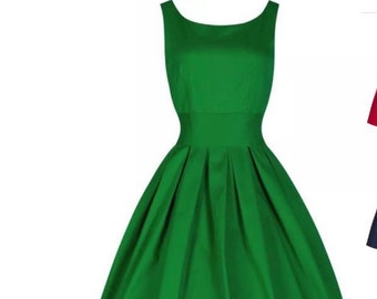 Rocket Retro green dress in 8/10,12/14 and 18