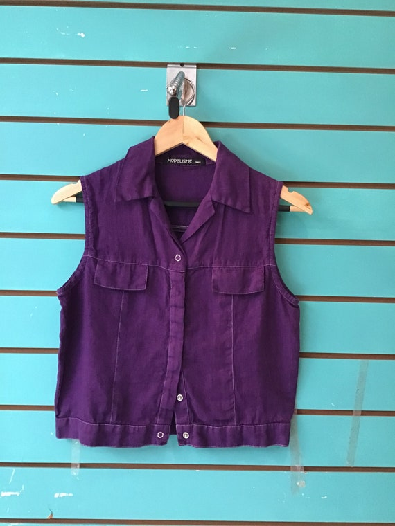 90s crop does 40s style gilet or blouse 8-10