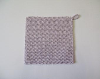 housewares gift for home cooks Knitted Potholder Lavender Soft Kitchen potholder handmade  hanging pot holder trick