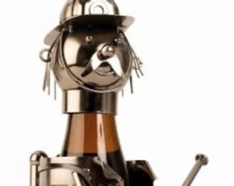 Wine bottle holder (330 ml) fireman, 24 cm