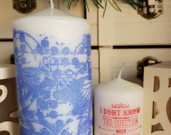 "Unique!!!  Set of 2 Candles ""All You Need Is Love"""