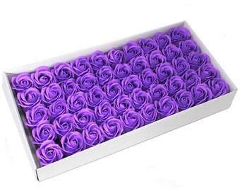50 Soap Roses set, guest gifts, lavender
