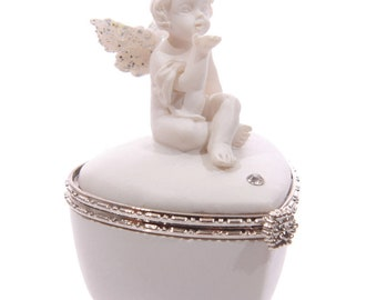 Angel Heart Shaped Pillbox