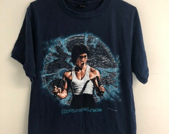 296869aeb Vintage 90 s Bruce Lee T-Shirt Size Large Single Stitch Made In USA