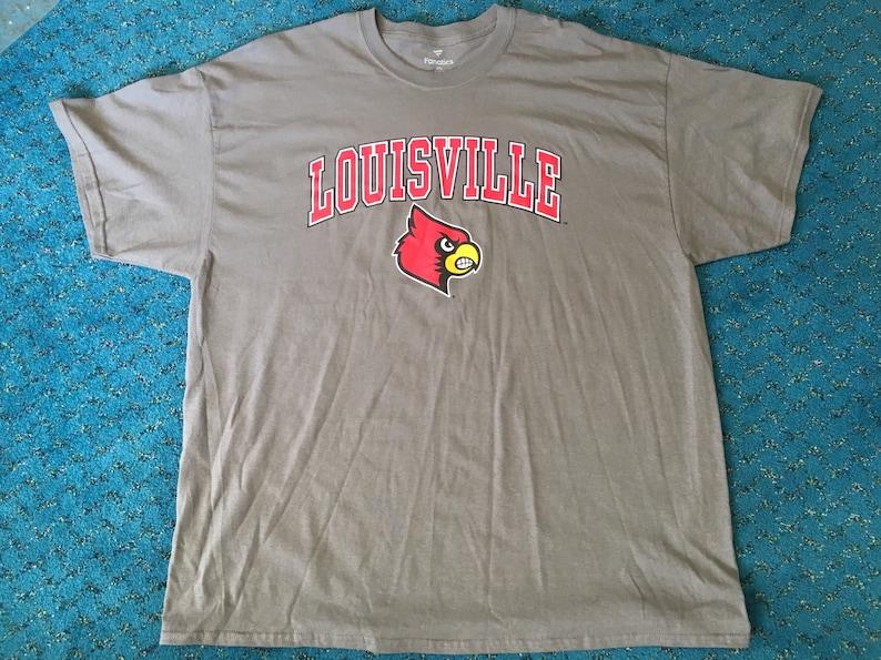 7cb14ec8b816 Louisville Cardinals Fanatics Branded Campus T-Shirt Size 2XL   Etsy