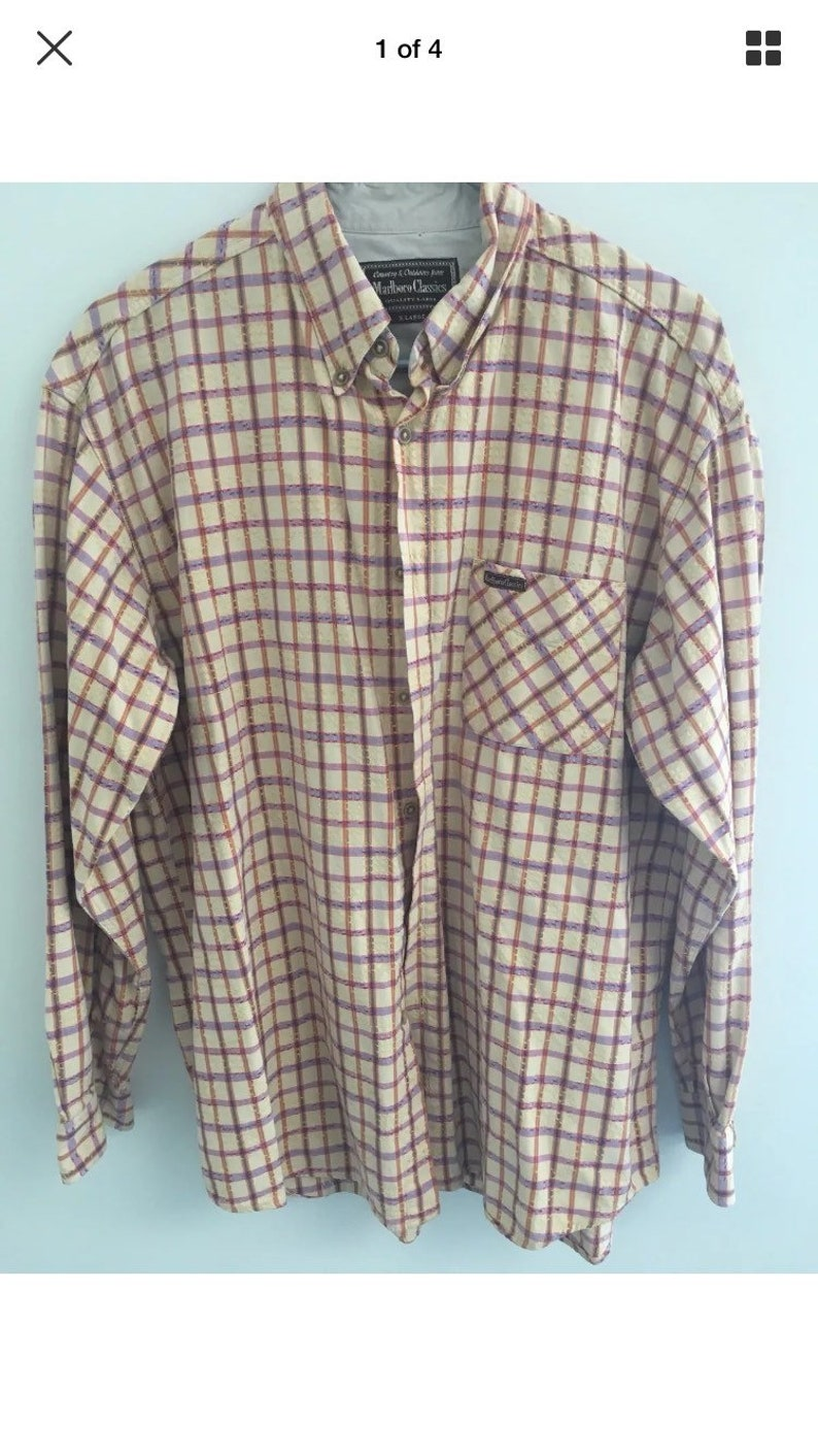 United Marlboro Classics Mens Casual Button-down Shirts Size X Large Men's Clothing