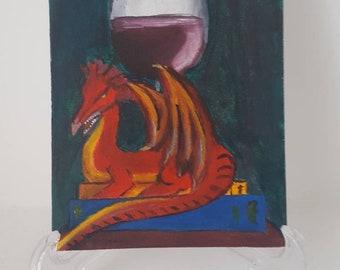 Original: Dragon Acrylic Painting