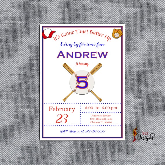Personalized Children S Birthday Party Invitation Card Birthday Party Invitation Card Customized Birthday Party Invitation Card