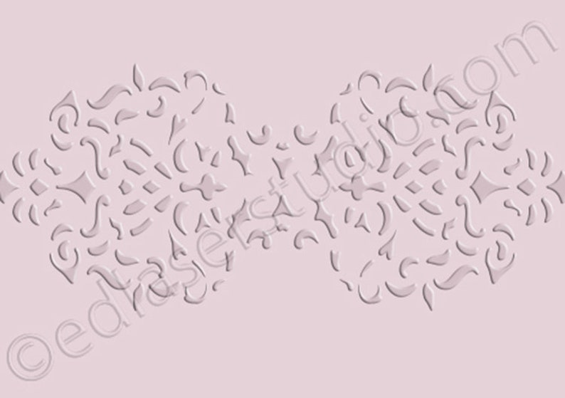 Lace Pattern FLORAL Stencil Vintage Template Paint Furniture Card making FL99