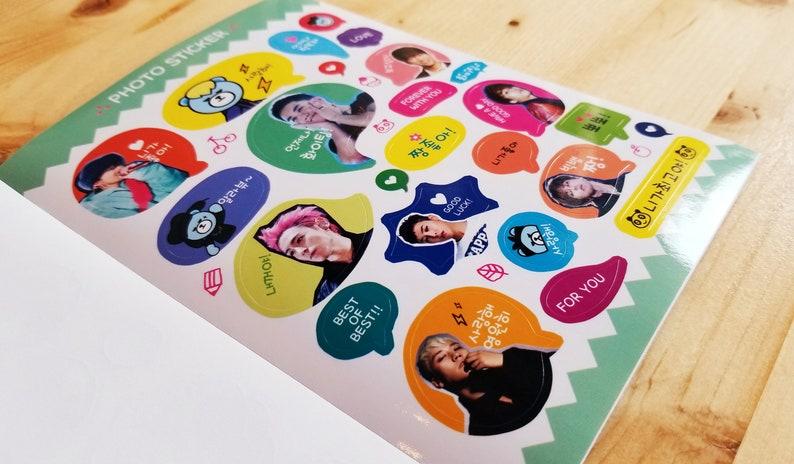 16 pg Kpop Idol Sticker Book BTS Bangtan EXO Red Velvet Blackpink Girls  Generation Seventeen SHINee GOT7 Big Bang Twice dbsk Merch OPPANG