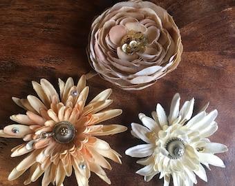 Hair Flowers Belly Dance or Wedding